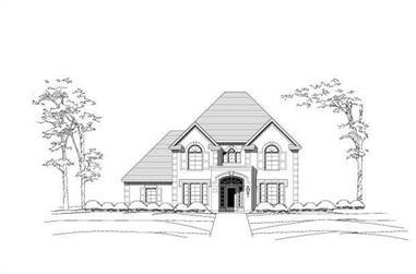 4-Bedroom, 3788 Sq Ft Luxury House Plan - 156-1981 - Front Exterior