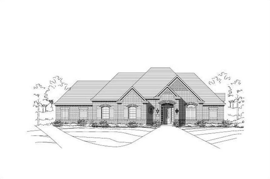 4-Bedroom, 3115 Sq Ft Ranch Home Plan - 156-1982 - Main Exterior
