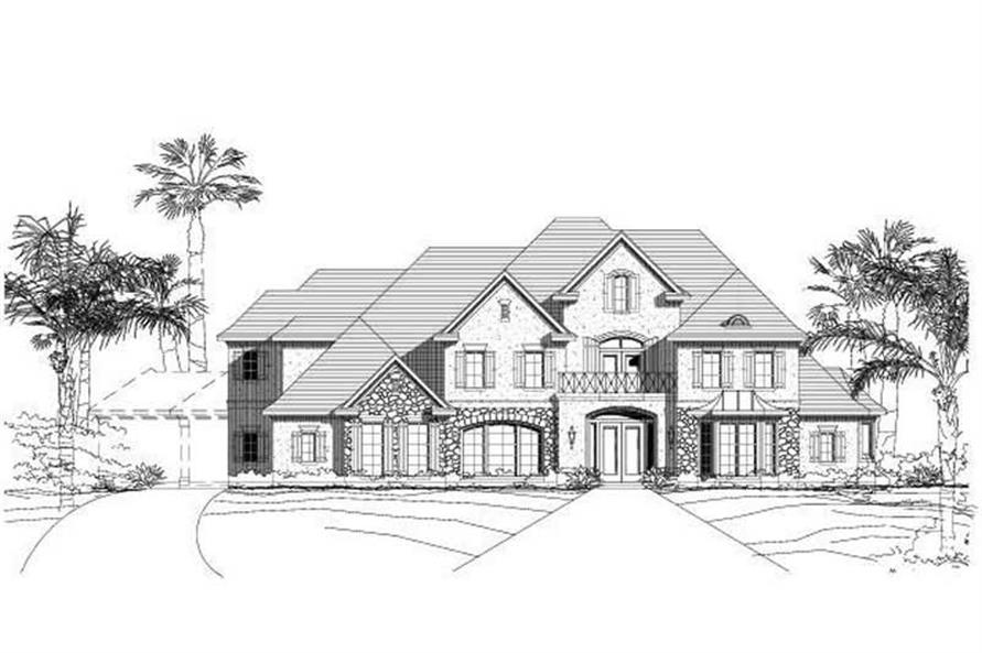 4-Bedroom, 5446 Sq Ft French Home Plan - 156-1983 - Main Exterior