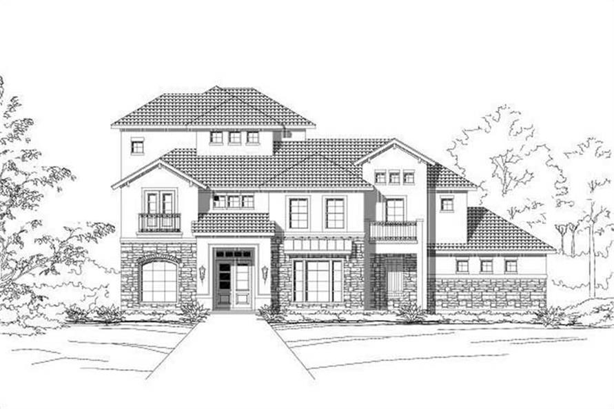 3-Bedroom, 3318 Sq Ft Spanish Home Plan - 156-1984 - Main Exterior
