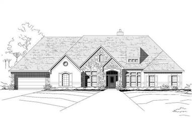 4-Bedroom, 3613 Sq Ft Spanish Home Plan - 156-1985 - Main Exterior