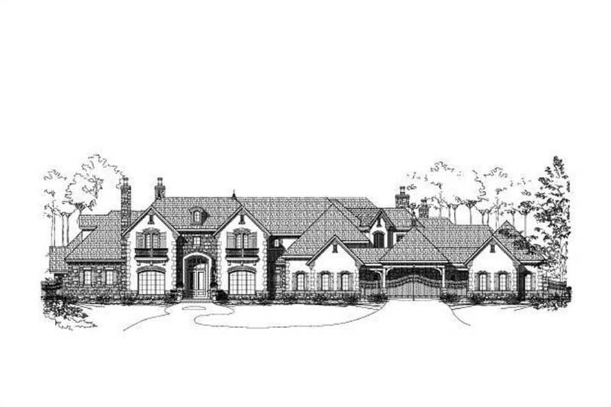 5-Bedroom, 10672 Sq Ft Luxury Home Plan - 156-1987 - Main Exterior