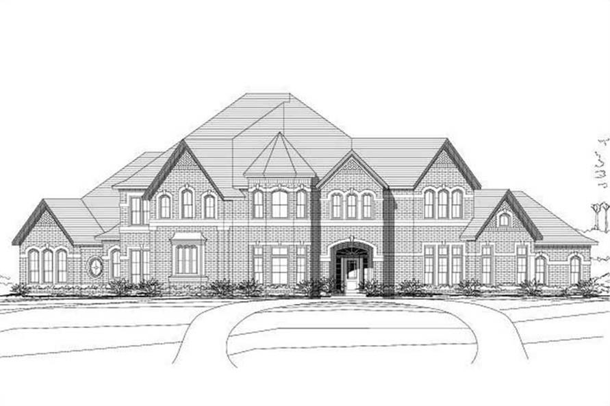 4-Bedroom, 4170 Sq Ft Luxury House Plan - 156-1988 - Front Exterior