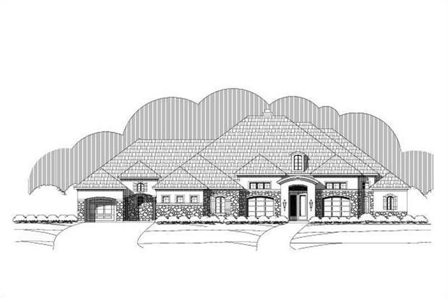 4-Bedroom, 3818 Sq Ft Country House Plan - 156-1989 - Front Exterior