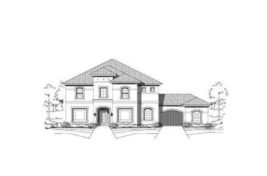 5-Bedroom, 4312 Sq Ft Luxury House Plan - 156-1990 - Front Exterior