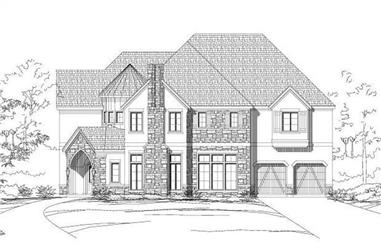 4-Bedroom, 4810 Sq Ft Tuscan Home Plan - 156-1991 - Main Exterior