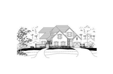 4-Bedroom, 4308 Sq Ft Country House Plan - 156-1992 - Front Exterior