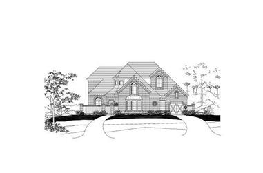 4-Bedroom, 4308 Sq Ft Luxury House Plan - 156-1995 - Front Exterior