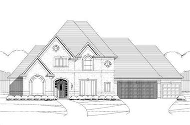 4-Bedroom, 4096 Sq Ft French Home Plan - 156-1997 - Main Exterior