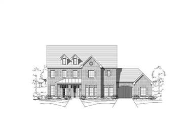 5-Bedroom, 4473 Sq Ft Luxury House Plan - 156-1998 - Front Exterior