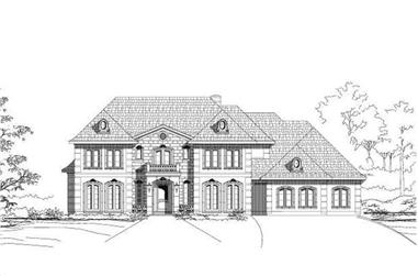 4-Bedroom, 4229 Sq Ft French House Plan - 156-1999 - Front Exterior