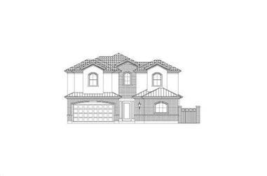 3-Bedroom, 2764 Sq Ft Traditional Home Plan - 156-2000 - Main Exterior