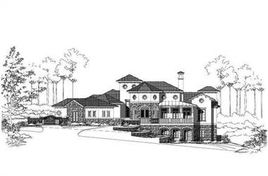 4-Bedroom, 4607 Sq Ft Mediterranean House Plan - 156-2002 - Front Exterior