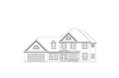 5-Bedroom, 3593 Sq Ft Country House Plan - 156-2006 - Front Exterior
