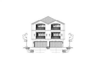 3-Bedroom, 3173 Sq Ft Multi-Unit House Plan - 156-2007 - Front Exterior