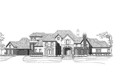 4-Bedroom, 5494 Sq Ft Country House Plan - 156-2009 - Front Exterior