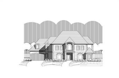 4-Bedroom, 5016 Sq Ft Luxury House Plan - 156-2010 - Front Exterior
