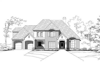 4-Bedroom, 3447 Sq Ft Luxury House Plan - 156-2012 - Front Exterior