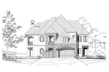 5-Bedroom, 5111 Sq Ft Country Home Plan - 156-2013 - Main Exterior
