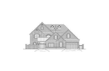 5-Bedroom, 5079 Sq Ft Luxury House Plan - 156-2014 - Front Exterior
