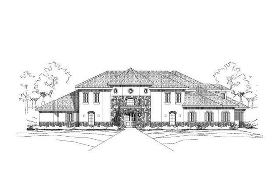 6-Bedroom, 5094 Sq Ft Luxury House Plan - 156-2015 - Front Exterior