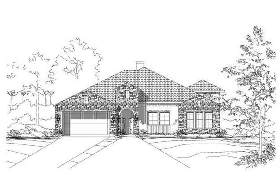4-Bedroom, 3053 Sq Ft Spanish House Plan - 156-2016 - Front Exterior