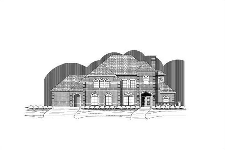 4-Bedroom, 4550 Sq Ft Luxury Home Plan - 156-2018 - Main Exterior