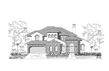 4-Bedroom, 4223 Sq Ft Spanish Home Plan - 156-2019 - Main Exterior