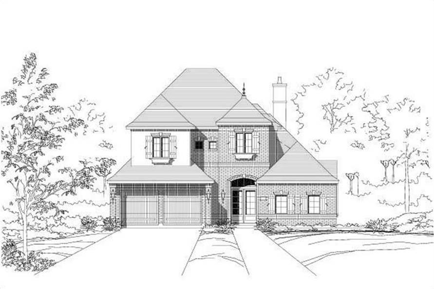 3-Bedroom, 4036 Sq Ft Country Home Plan - 156-2020 - Main Exterior