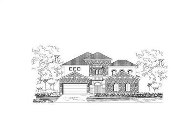4-Bedroom, 4198 Sq Ft Spanish Home Plan - 156-2021 - Main Exterior