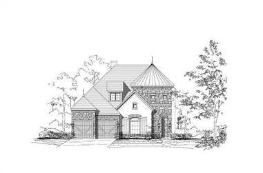 4-Bedroom, 3954 Sq Ft Country Home Plan - 156-2024 - Main Exterior