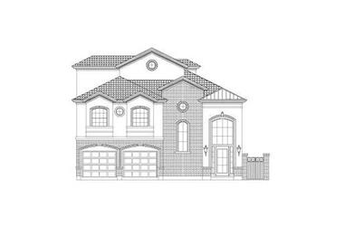 3-Bedroom, 3548 Sq Ft Luxury House Plan - 156-2025 - Front Exterior