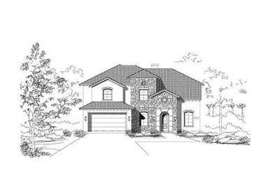 4-Bedroom, 3389 Sq Ft Spanish House Plan - 156-2026 - Front Exterior