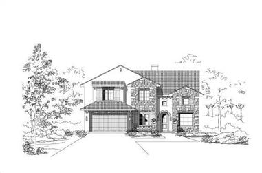 4-Bedroom, 3389 Sq Ft Spanish House Plan - 156-2027 - Front Exterior