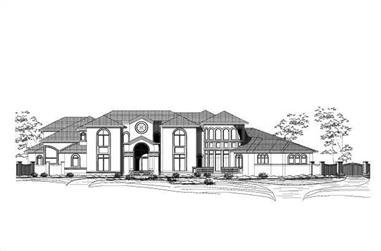 6-Bedroom, 11088 Sq Ft Contemporary House Plan - 156-2028 - Front Exterior