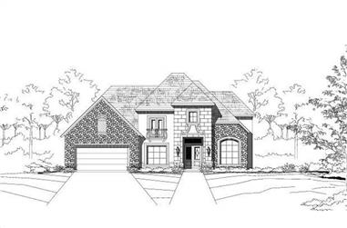 4-Bedroom, 4712 Sq Ft Country Home Plan - 156-2029 - Main Exterior