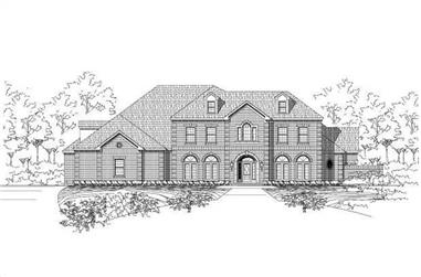 5-Bedroom, 6881 Sq Ft Luxury Home Plan - 156-2030 - Main Exterior
