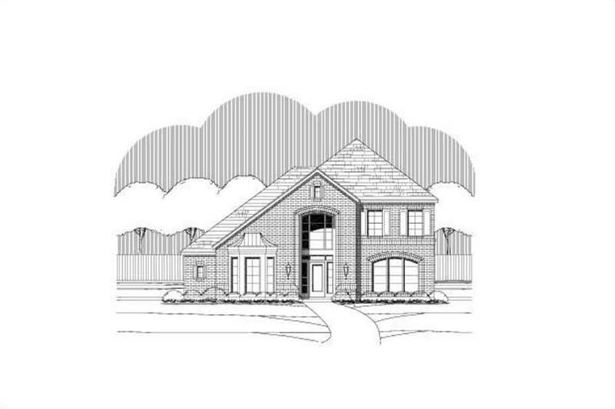 4-Bedroom, 3414 Sq Ft Luxury House Plan - 156-2031 - Front Exterior