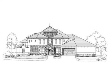 3-Bedroom, 4228 Sq Ft Spanish Home Plan - 156-2033 - Main Exterior