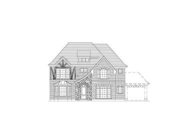 5-Bedroom, 3998 Sq Ft Craftsman Home Plan - 156-2034 - Main Exterior