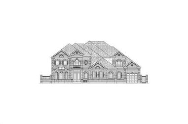 4-Bedroom, 6774 Sq Ft Luxury House Plan - 156-2035 - Front Exterior