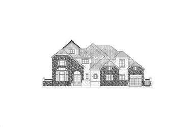 4-Bedroom, 6008 Sq Ft Luxury Home Plan - 156-2036 - Main Exterior