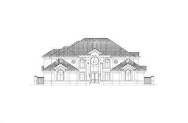 5-Bedroom, 5827 Sq Ft Contemporary Home Plan - 156-2037 - Main Exterior