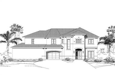 4-Bedroom, 4335 Sq Ft Mediterranean House Plan - 156-2039 - Front Exterior