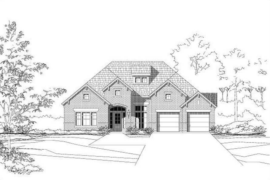 3-Bedroom, 2586 Sq Ft Ranch Home Plan - 156-2040 - Main Exterior