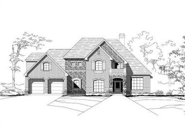 4-Bedroom, 3459 Sq Ft Country Home Plan - 156-2041 - Main Exterior