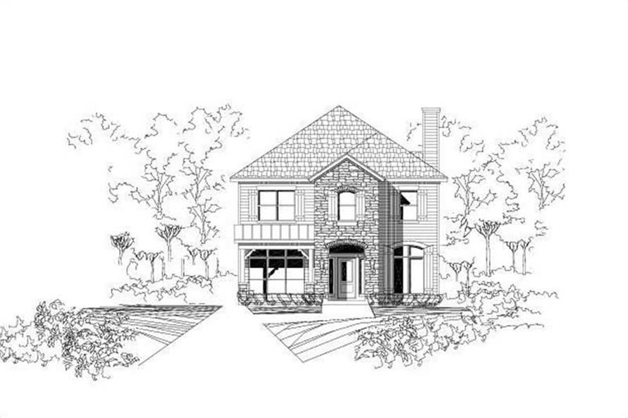 4-Bedroom, 2502 Sq Ft Traditional House Plan - 156-2042 - Front Exterior