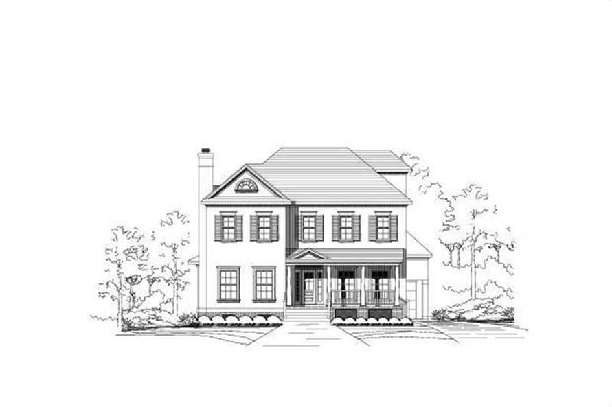 4-Bedroom, 4036 Sq Ft Luxury Home Plan - 156-2044 - Main Exterior