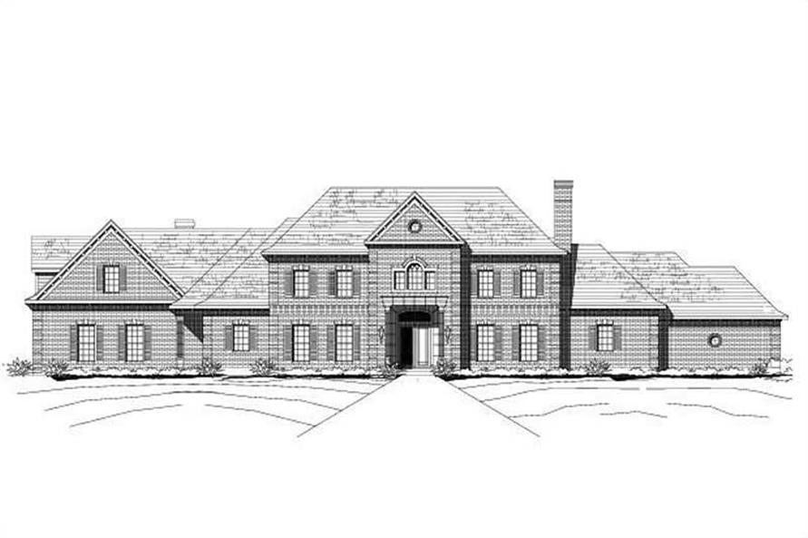 4-Bedroom, 7732 Sq Ft Luxury House Plan - 156-2045 - Front Exterior