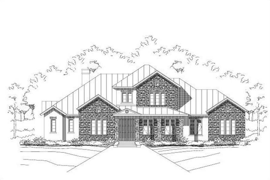 4-Bedroom, 3498 Sq Ft Luxury Home Plan - 156-2046 - Main Exterior